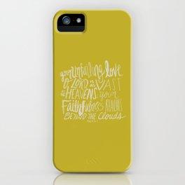 Psalm 36: 5 x Mustard iPhone Case