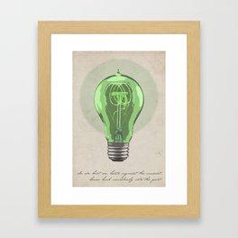 The Green Light Framed Art Print