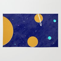 solar system Area & Throw Rugs featuring Solar System by Quinn Shipton