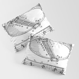 Snare Patent - Musician Art - Black And White Pillow Sham