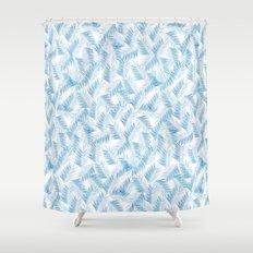 Frozen Palms Shower Curtain