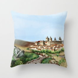 Viseu landscape Throw Pillow
