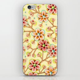 Candy Apple Blossom Yellow iPhone Skin