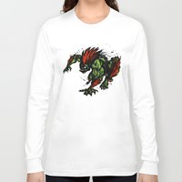 street fighter Long Sleeve T-shirts featuring Blanka Rush! - Street Fighter by Peter Forsman