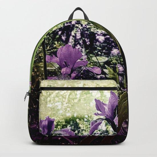 Purple Irises Backpack