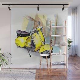 Giallo Vespa (Motocicletalia) Wall Mural