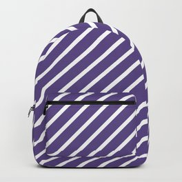 Ultra Violet Tight Diagonal Stripes Backpack