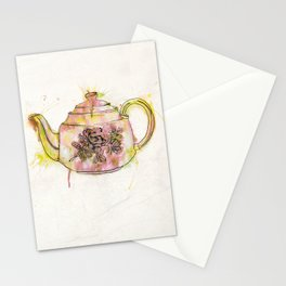 Watercolour Vintage Teapot Stationery Cards
