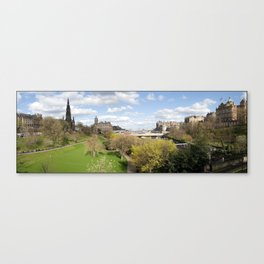 Edinburgh, Scotland panorama Canvas Print