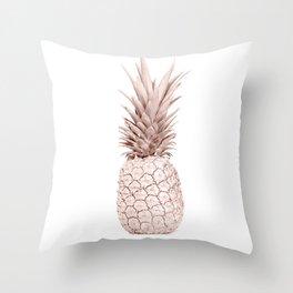 Pineapple Rose Gold Throw Pillow