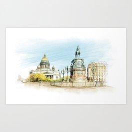 Saint Isaac's Cathedral Art Print