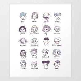 Emotions & Feelings Art Print