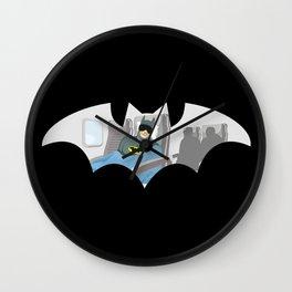 Bat Nap Wall Clock