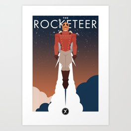 The Rocket Man Art Print
