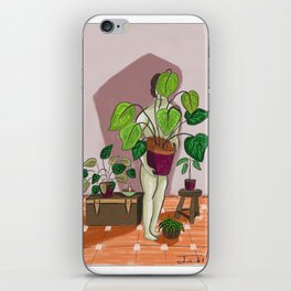 boys with love for plants illustration painting iPhone Skin