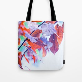 Raindrops on Autumn Leavs Tote Bag