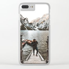 man at braies Clear iPhone Case