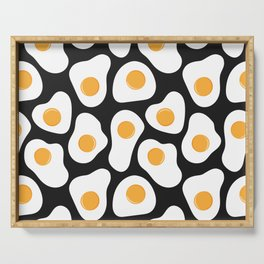 Cracking Fried Egg Pattern Serving Tray