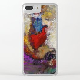 "Odilon Redon ""La roue de la fortune"" Clear iPhone Case"
