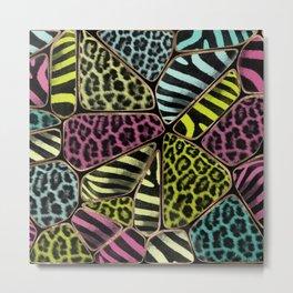 Colorful Animal Print - Leopard and Zebra Metal Print