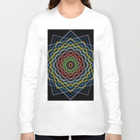 Colorful Geometric Pattern V Long Sleeve T-shirt