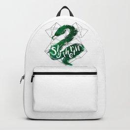 Slytherin Silver Splatter Backpack