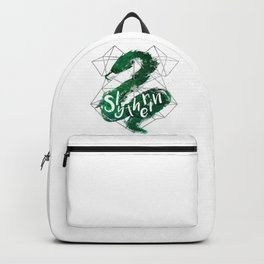 Slytherin Silver Splatter Backpack