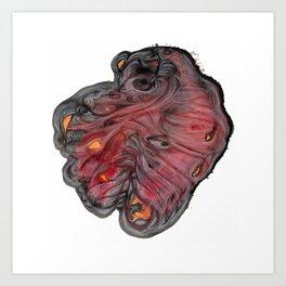 An Oddly-Beating Heart Art Print