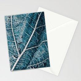 Frozen Winter Leaf Stationery Cards