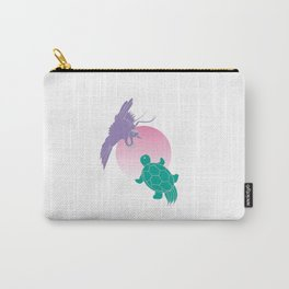 Crane and turtle Carry-All Pouch