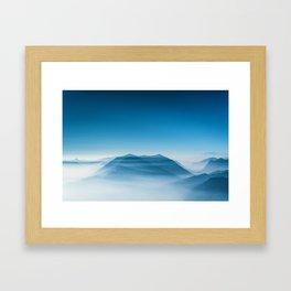 Blue Mountains (Color) Framed Art Print