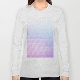 Pastel Cube Pattern Ombre 1 - pink, blue and vi Long Sleeve T-shirt