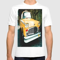 Yellow Cab (2) MEDIUM White Mens Fitted Tee