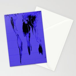 World Map: Gall Peters Indigo Purple Stationery Cards