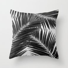 Palm Leaf Black & White III Throw Pillow