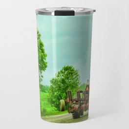 Tractor On Country Road Travel Mug