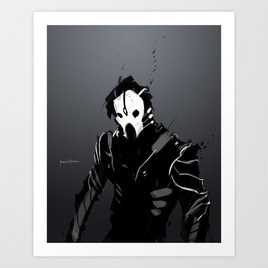 Maskmen no.2 Art Print