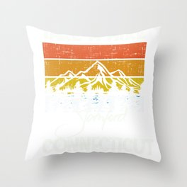 Stamford Connecticut Vintage Take A Hike Throw Pillow