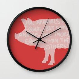 Animal Farm - George Orwell Wall Clock