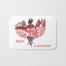Red London Bath Mat