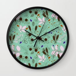 Echinacea mint Wall Clock