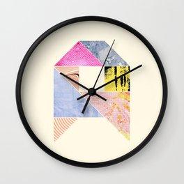 Collaged Tangram Alphabet - A Wall Clock