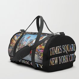 Times Square Sparkle (with type on black) Duffle Bag