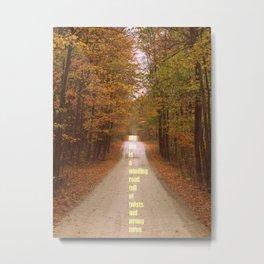 The roads we sometimes travel. Metal Print