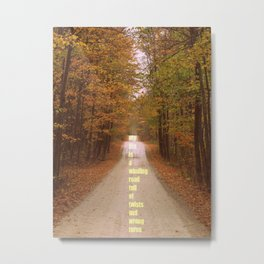 The roads we sometimes travel. Metal Print