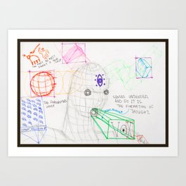 Formation of Thought - Bordered Art Print
