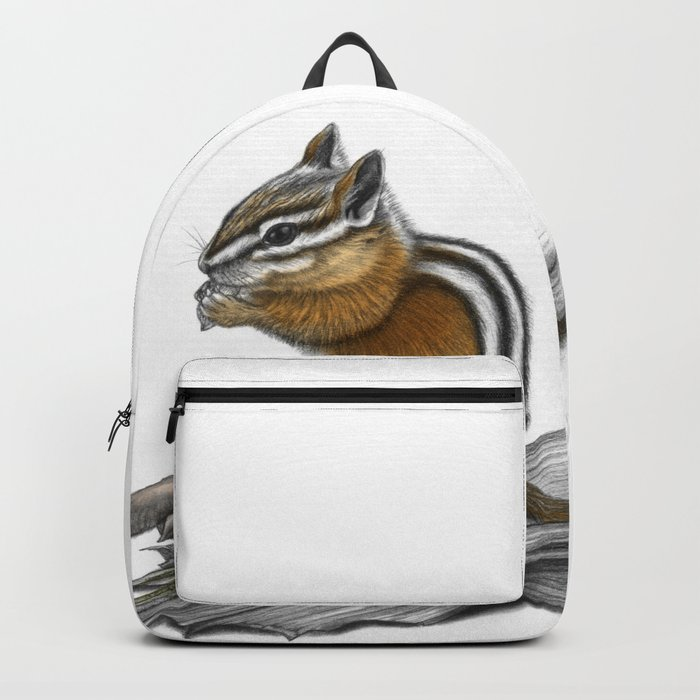 Chipmunk and mushrooms Backpack