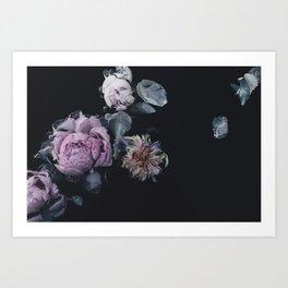 Vintage Floating Florals Art Print