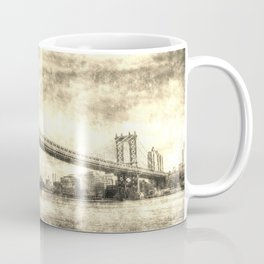Manhattan Bridge New York Vintage Coffee Mug