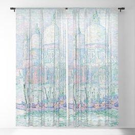 """Paul Signac """"Venise. La Salute Vert"""" Sheer Curtain"""